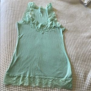 Womens lace trimmed tank